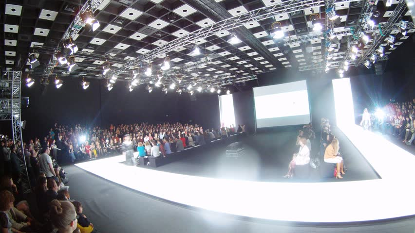 MOSCOW - MAR 21: (Timelapse View) Models show dresses on Mercedes-Benz Fashion Week, on March 21, 2012 in Moscow, Russia