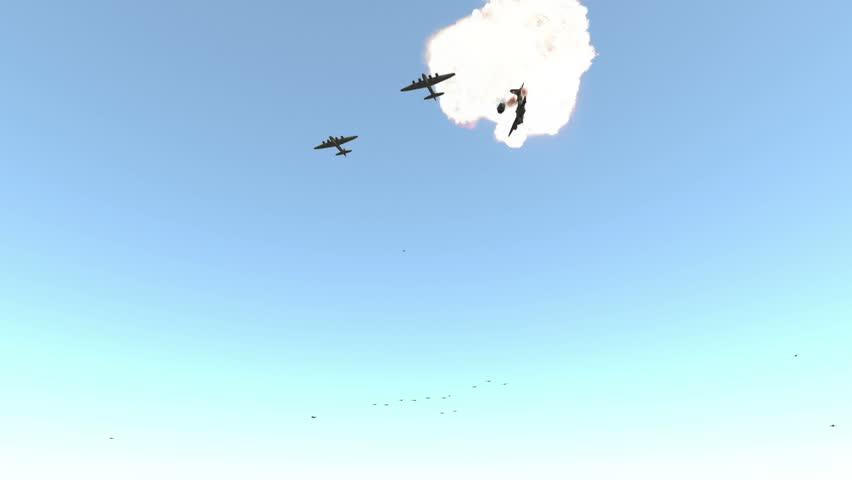 B17 Bomber crash