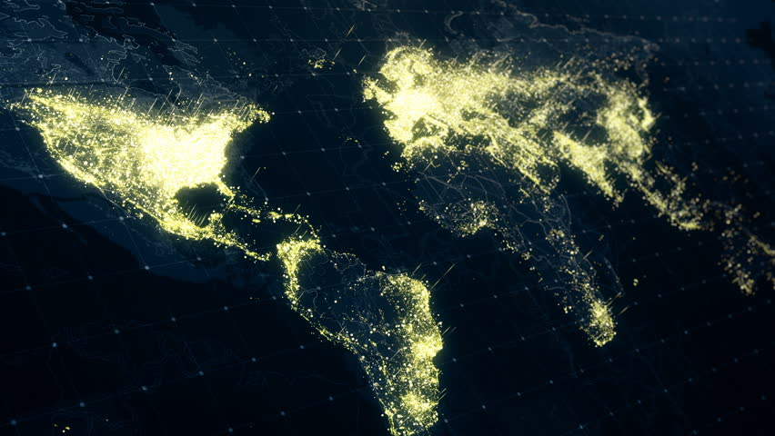 Stock video clip of world map night lighting animation of the stock video clip of world map night lighting animation of the shutterstock gumiabroncs Image collections