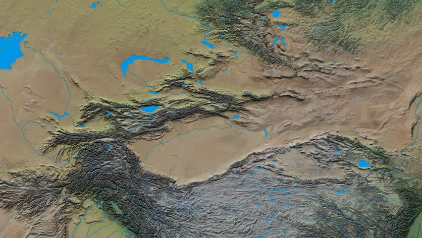 Zoom Into Tian Shan Mountain Range Glowed Natural Earth High - Aster gdem free download