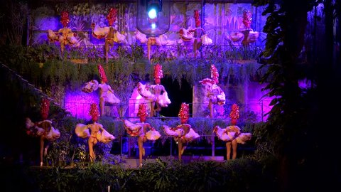 CUBA, - NOVEMBER 19: Latin dancers in the Tropicana Club. November 19, 2016 in Havana, Cuba