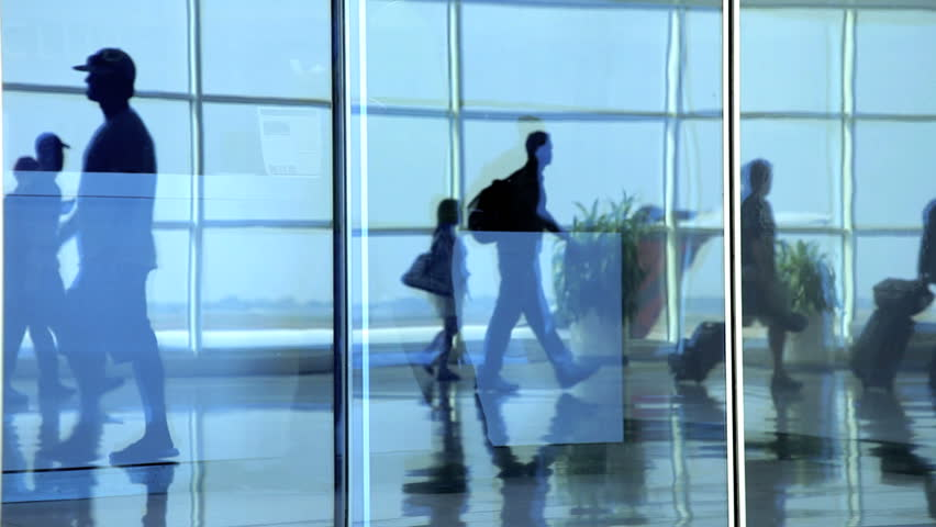 People walking in air terminal | Shutterstock HD Video #2269544