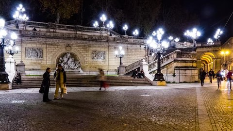 Timelapse Scalinata Del Pincio In Parco Della Montagnola Bologna Italy