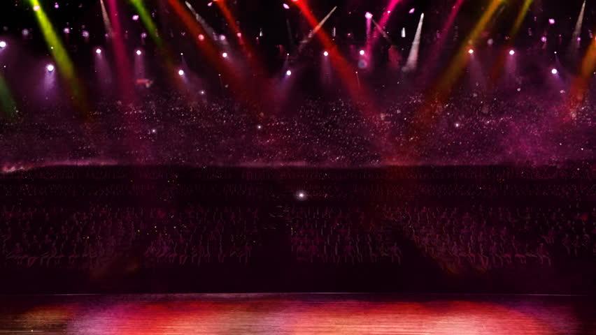 Camera flash light in concert. | Shutterstock HD Video #2274365