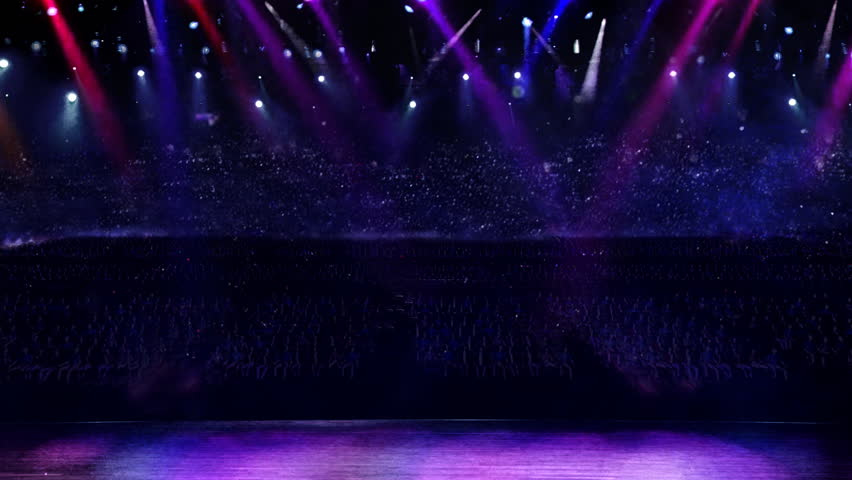 Concert of purple color spotlight  | Shutterstock HD Video #2274374
