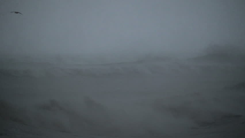 Raging arctic blizzard gale force winds high seas extreme weather Iceland winter
