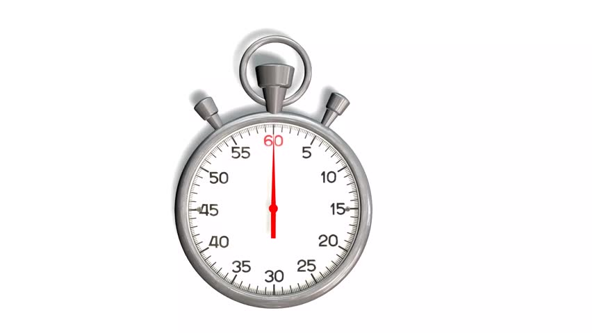 stopwatch loop realtime  realistic stopwatch animation in