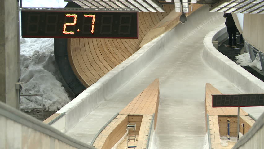 The bobsled and luge go on the track