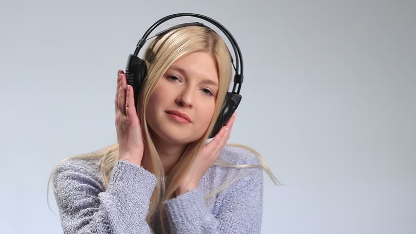 Emotional Girl Enjoying Music in Stock Footage Video (100% Royalty-free)  22989394 | Shutterstock