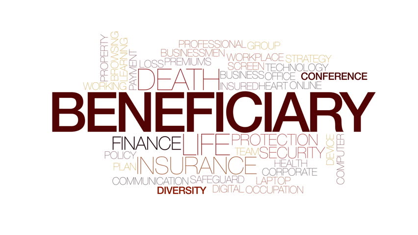 Beneficiary animated word cloud. Kinetic typography. | Shutterstock HD Video #23010784