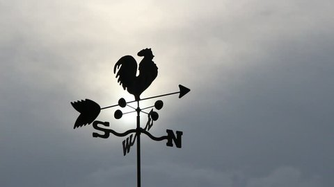 Weather Vane on Farm Shaped Like Rooster