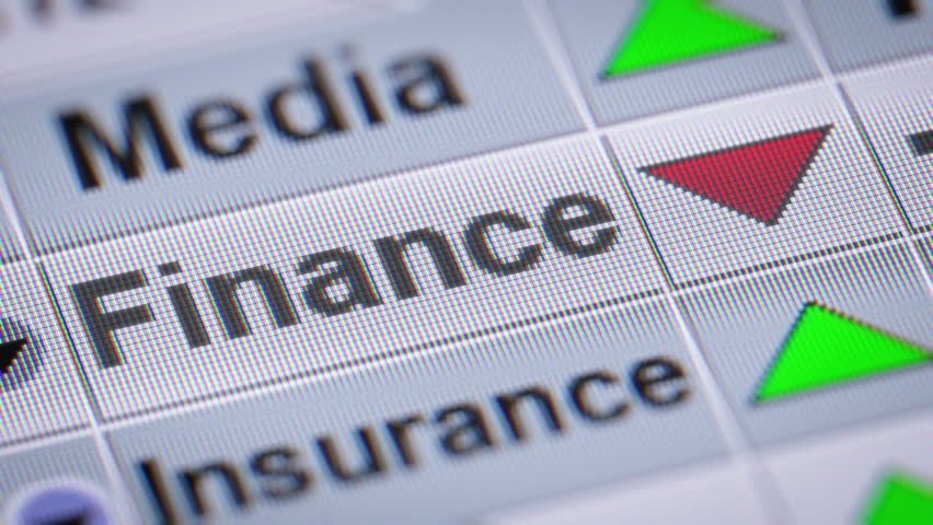 Index of Finance industry on the screen. Down. Looping. | Shutterstock HD Video #23044054