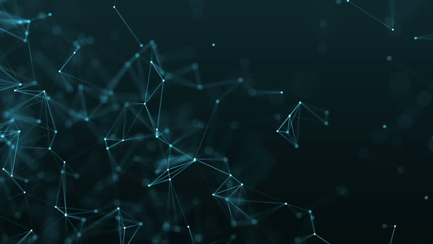 4K rendered computer generated video abstract moving background. Triangles, dots and lines are connecting with shine on blur background. Slow motion and shallow depth of field | Shutterstock HD Video #23047249