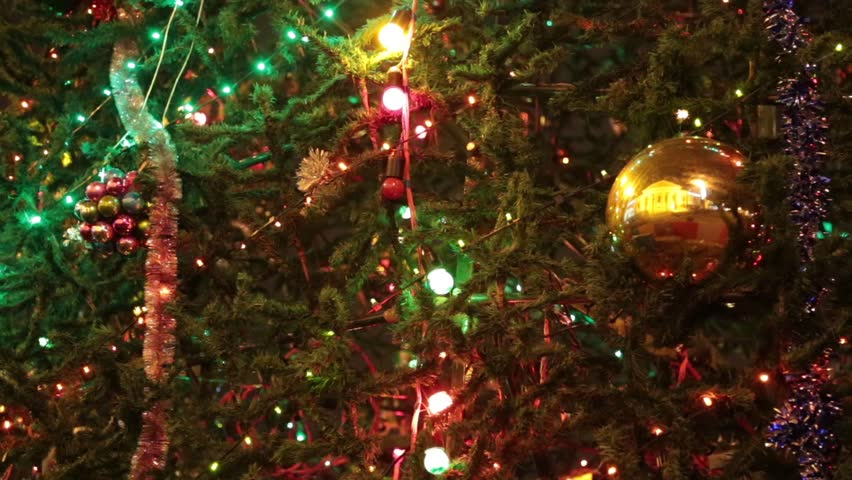 christmas tree with colorful bokeh and christmas lightschristmas and new year decoration - Sparkling Christmas Lights