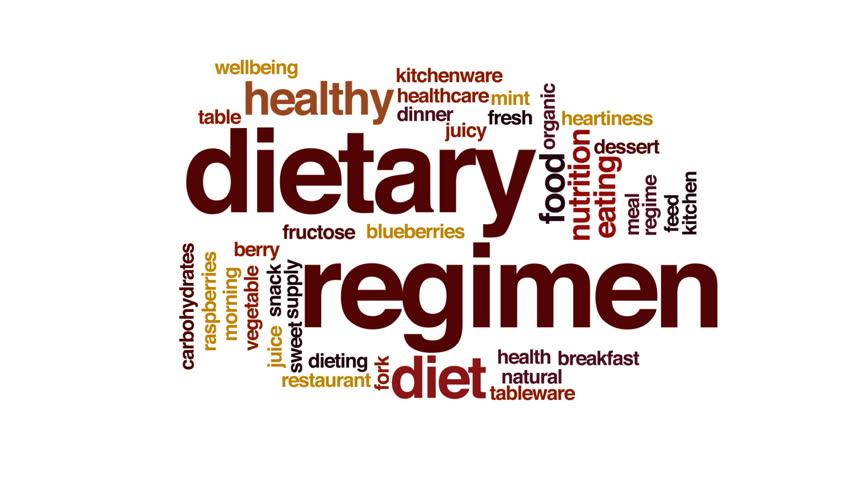 Dietary regimen animated word cloud.   Shutterstock HD Video #23071354