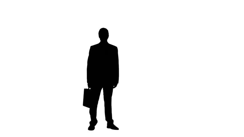standing businessman silhouette cartoon royalty free - 852×480