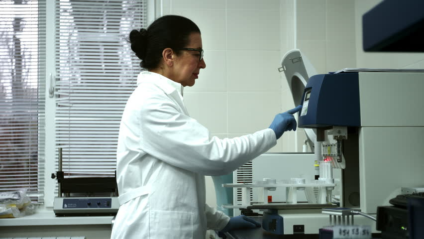 Working on Scientific Progress. Shot of a Senior Science Technician Carrying Out an Experiment Using Modern Laboratory Equipment Machine | Shutterstock HD Video #23126734