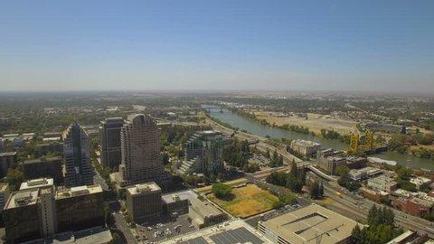 Aerial California Sacramento 4K Aerial video of Sacramento California.