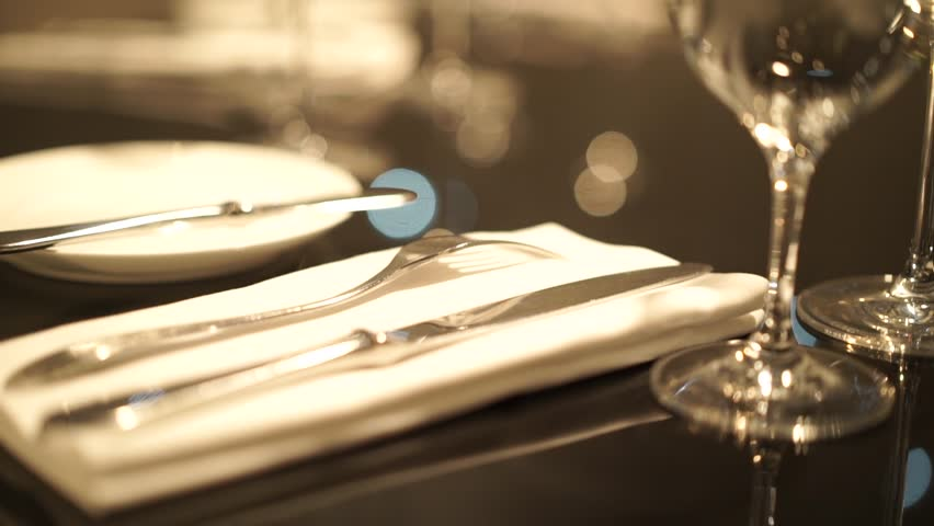 Stock video of table settingrestaurant servingrestaurant interiorempty glasses on | 23163874 | Shutterstock & Stock video of table settingrestaurant servingrestaurant interior ...