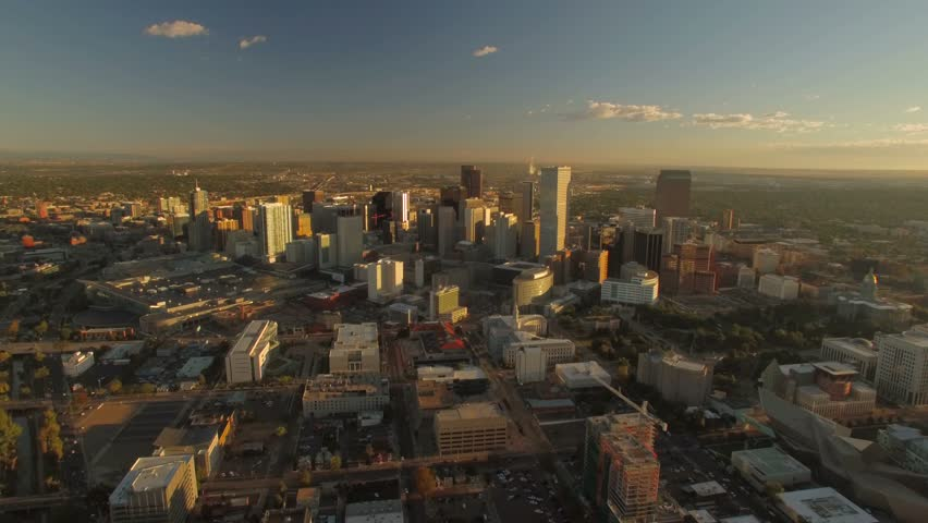 Aerial of Denver in Colorado.