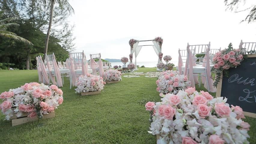 Beach Wedding Set Up Stock Footage Video 100 Royalty Free 23235814 Shutterstock