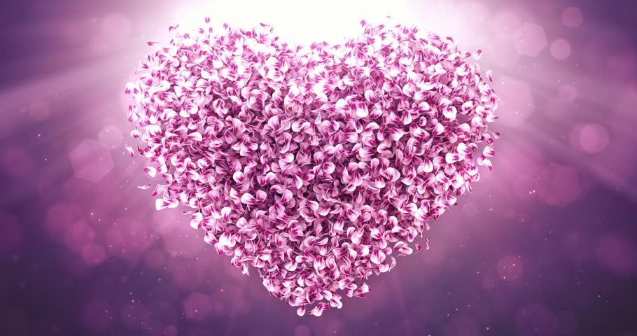 Romantic flying pink rose sakura flower petals lovely heart romantic flying pink rose sakura flower petals lovely heart backdrop for st valentines day stopboris Gallery
