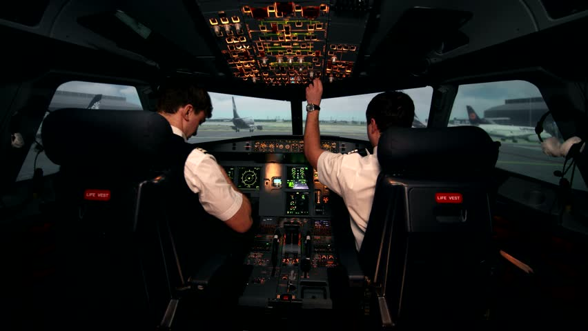 Co-pilot in the Flight Deck Stock Footage Video (100% Royalty-free)  23299414 | Shutterstock
