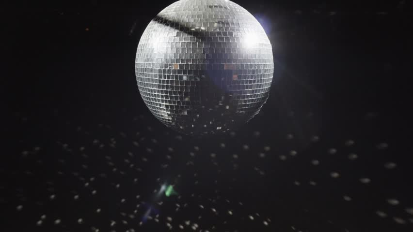 Colorful party background with disco ball. Changes colors | Shutterstock HD Video #23299984