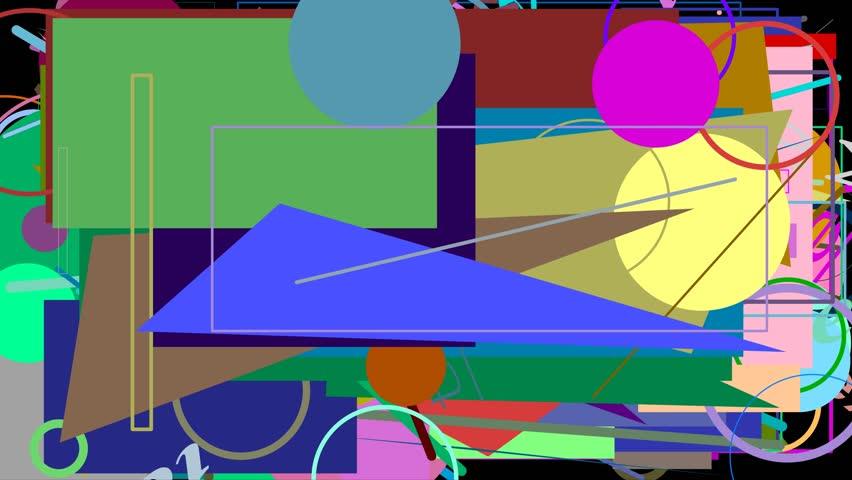 Random graphics shapes animation | Shutterstock HD Video #23306167