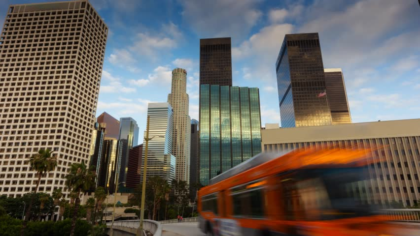 Downtown Los Angeles city, California. Motion timelapse hyperlapse. | Shutterstock HD Video #2339264