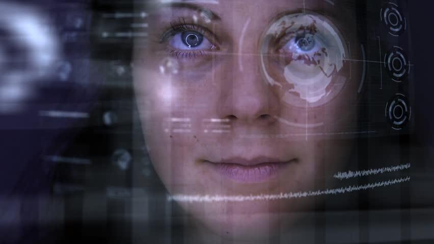 Futuristic loop / virtual reality, HUD,