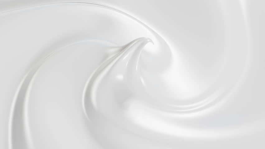 Beautiful Cream in Looped 3d Animation. Close-up Seamless 4k.