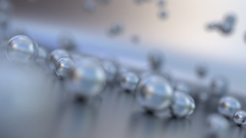 Chrome balls moving along the surface | Shutterstock HD Video #23436154