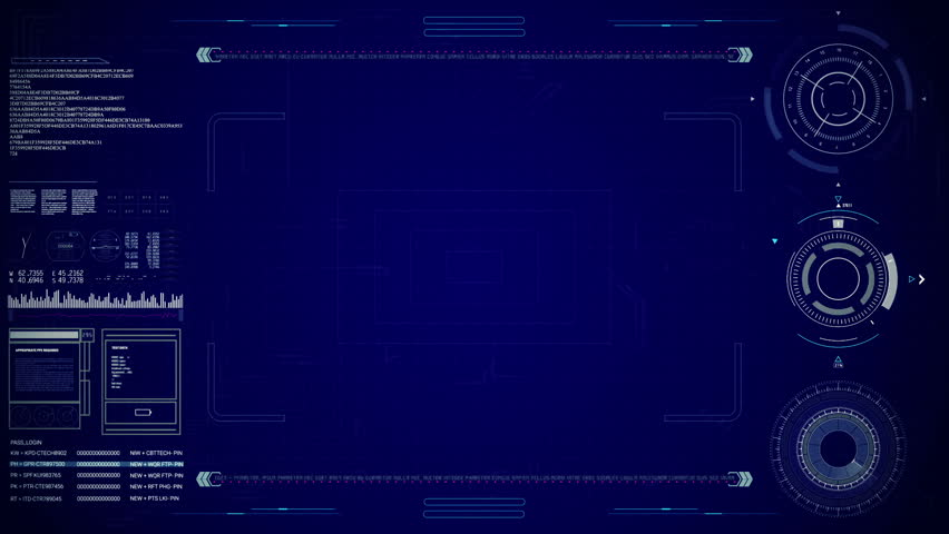 HUD display.Heads up display screen.Add text or footage and get nice technological and futuristic INTRO.ROBOTO or DIGITAL font gives perfect effect. | Shutterstock HD Video #23460724