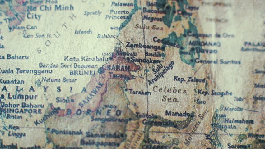 Philippines Old Vintage Paper Map