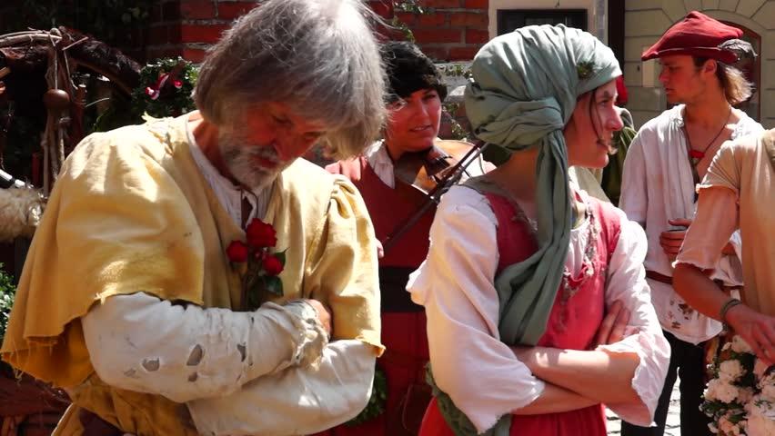 Medieval games during the Landshut Wedding historical pageant, Landshut, Lower Bavaria, Bavaria, Germany, Europe 14. July 2013 #23570614