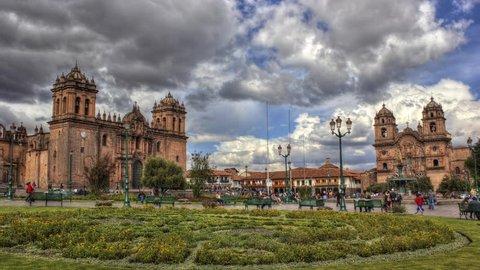 Cusco Plaza de Armas HDR time-lapse
