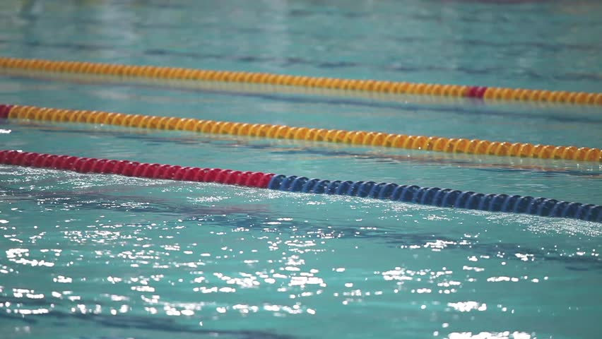 Swimming Pool Lane Lines Background track field for race,swimming pool stock footage video 8294305