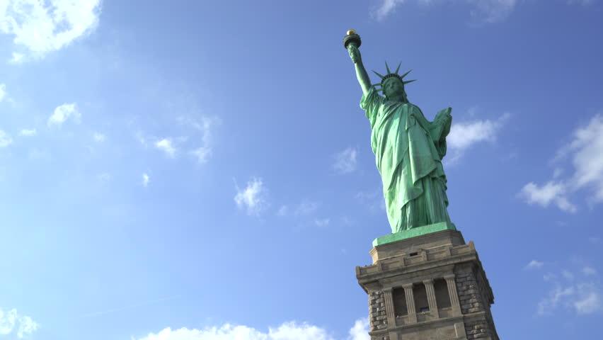 Statue of Liberty pan shot - New York City | Shutterstock HD Video #23643694