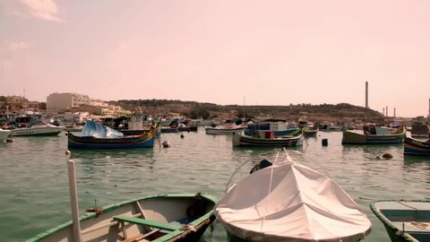 Traditional Maltese fishing boats