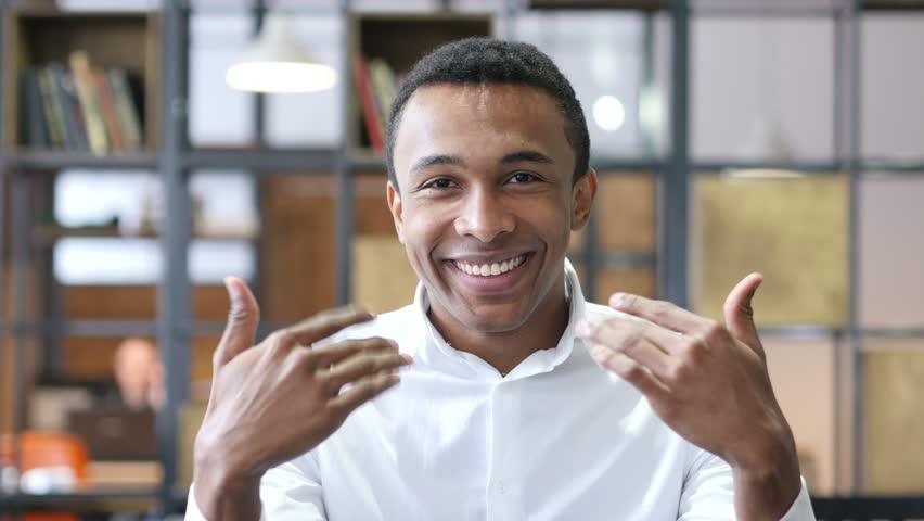 Inviting Black Man in Office