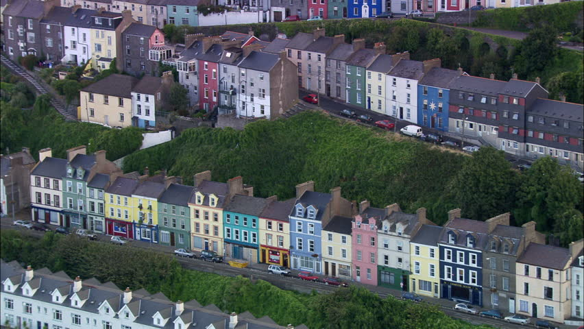 Cobh Trerrace Housing And Harbour   Shutterstock HD Video #23701414