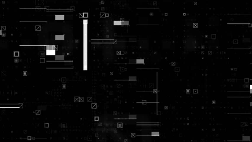 Abstract particle background. A lot of small detail and elements. Crosses, squares and glitch elements. Loopable sequence. | Shutterstock HD Video #23713474