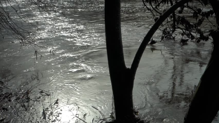 Header of floodwater