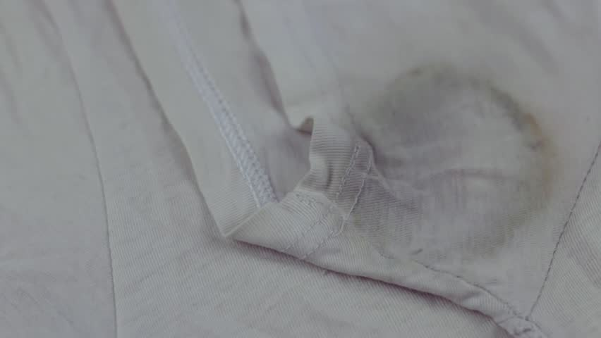 Sweat stain on t-shirt