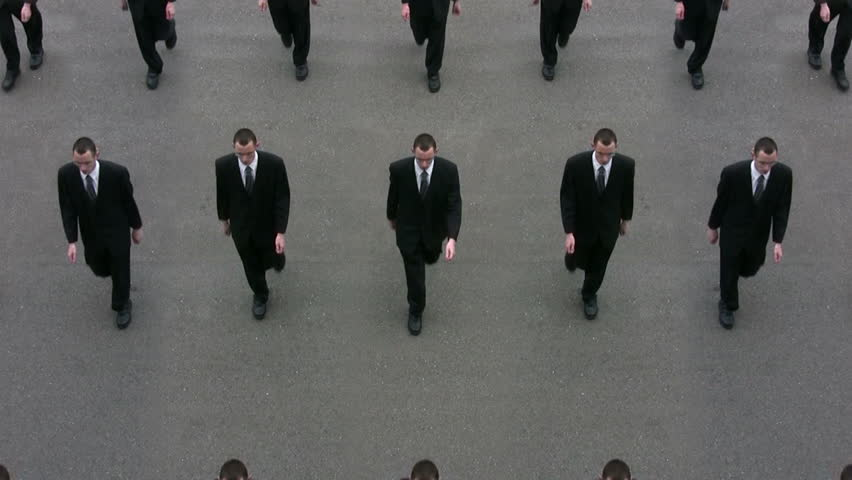 Cloned Businessmen (Loop). | Shutterstock HD Video #23851234