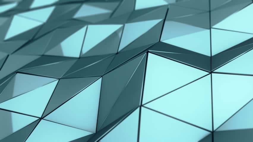 Abstract background with animation of waving smooth polygonal surface from glass, chrome or plastic. Good technological backdrop. Animation of seamless loop.  | Shutterstock HD Video #23852194
