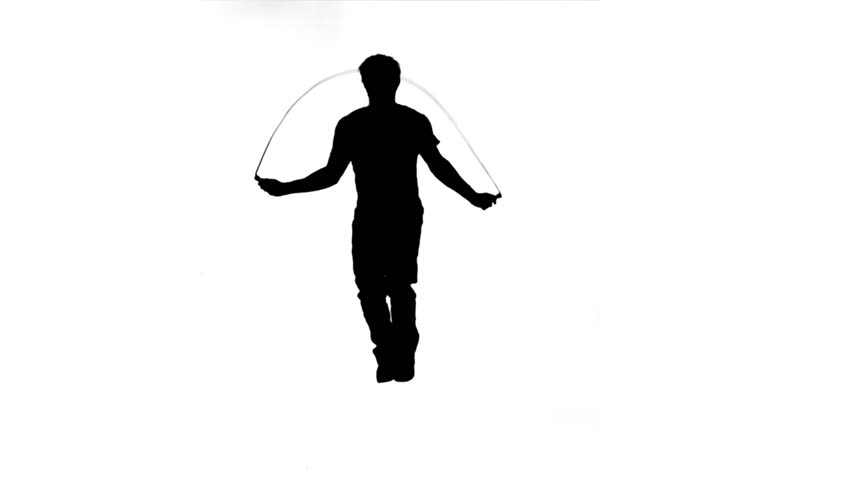 Silhouette of a Man Skipping Stock Footage Video (100% Royalty ...