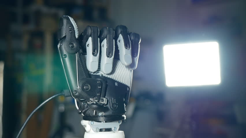 Futuristic robotic cyborg arm in action. Real robotic prosthesis. | Shutterstock HD Video #23883124