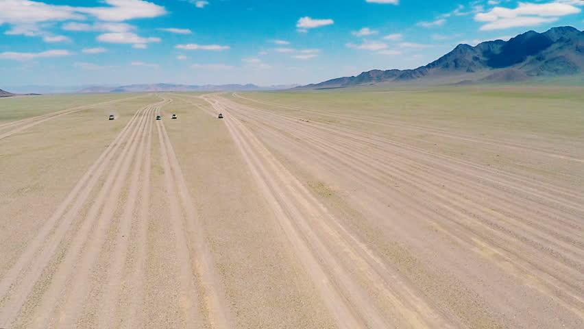Four tourist jeep ride through the desert | Shutterstock HD Video #23888044